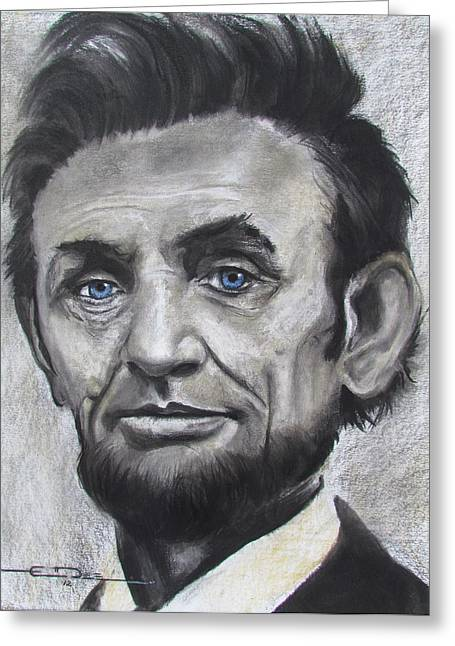 President Pastels Greeting Cards - Abraham Lincoln Greeting Card by Eric Dee