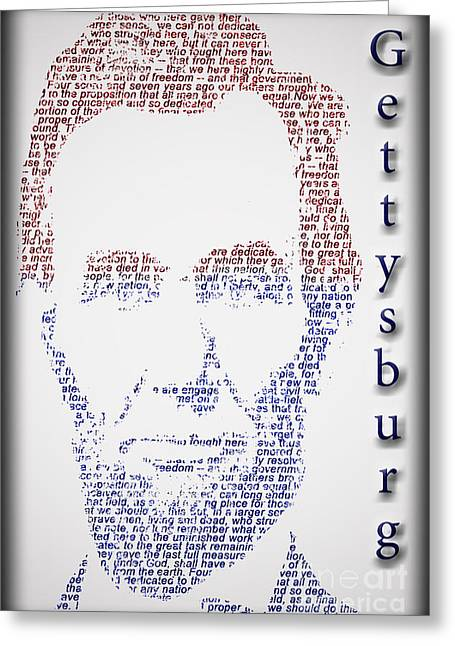 Slavery Greeting Cards - Abraham Lincoln  Greeting Card by Gary Keesler