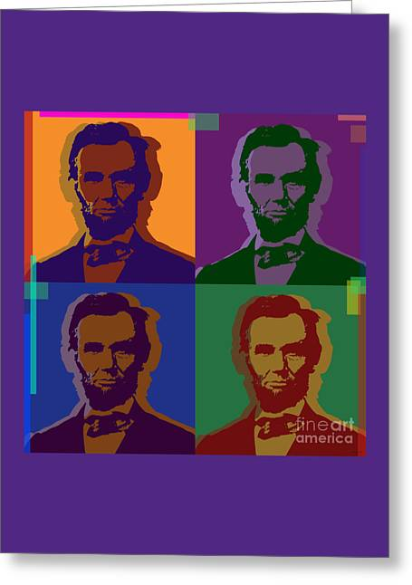 Us Congress Greeting Cards - Abraham Lincoln Greeting Card by Jean luc Comperat