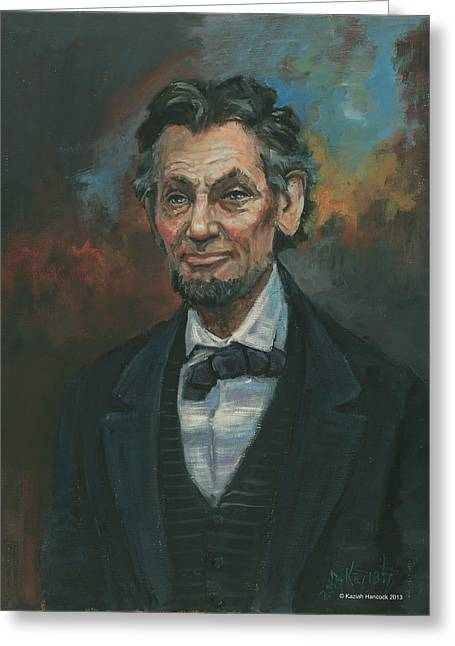 State Legislator Greeting Cards - Abraham Lincoln Greeting Card by Kaziah Hancock