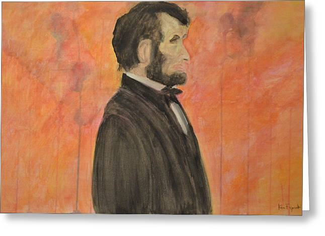 Slavery Paintings Greeting Cards - Abraham Lincoln Greeting Card by Ken Figurski