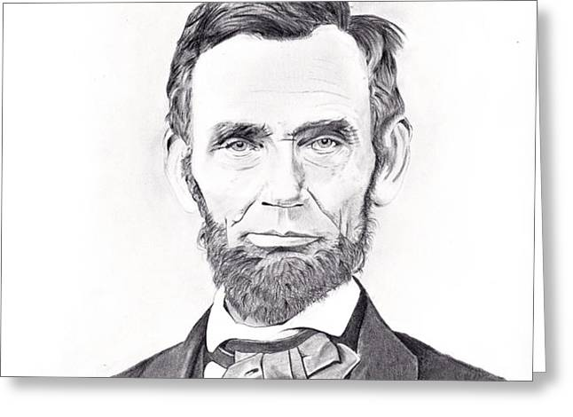 Abraham Lincoln Greeting Card by Lou Knapp