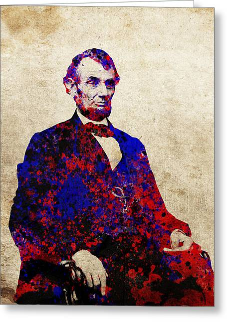 Abe Lincoln Art Greeting Cards - Abraham Lincoln Greeting Card by MB Art factory