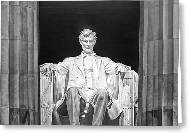 Abraham Lincoln Memorial Greeting Card by Susan Candelario