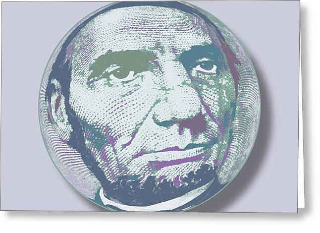 Slavery Mixed Media Greeting Cards - Abraham Lincoln Orb Greeting Card by Tony Rubino