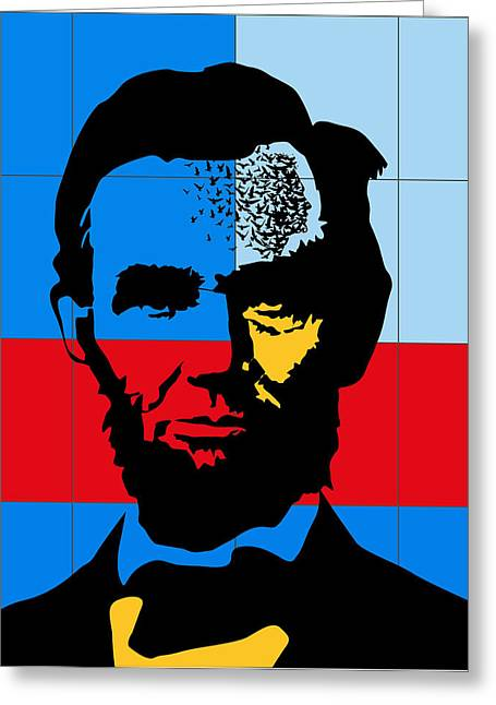 State Legislator Greeting Cards - Abraham Lincoln Greeting Card by Roby Marelly