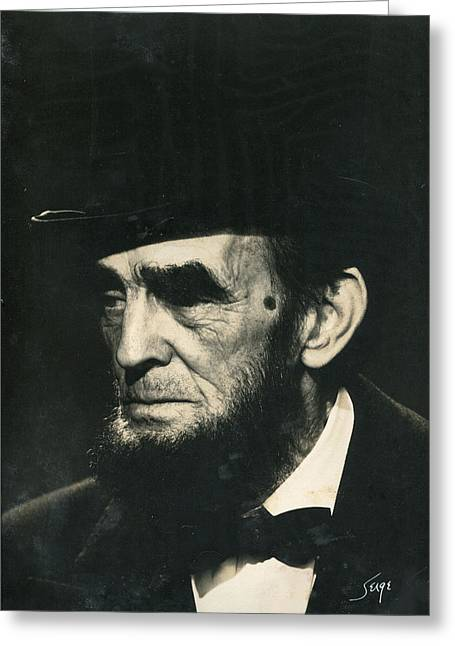 Abraham Lincoln Pictures Greeting Cards - Abraham Lincoln Greeting Card by Serge Seymour