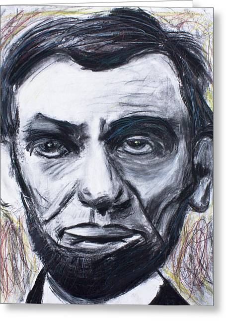 Civil Pastels Greeting Cards - Abraham lincoln the 16th president  Greeting Card by Don Lee