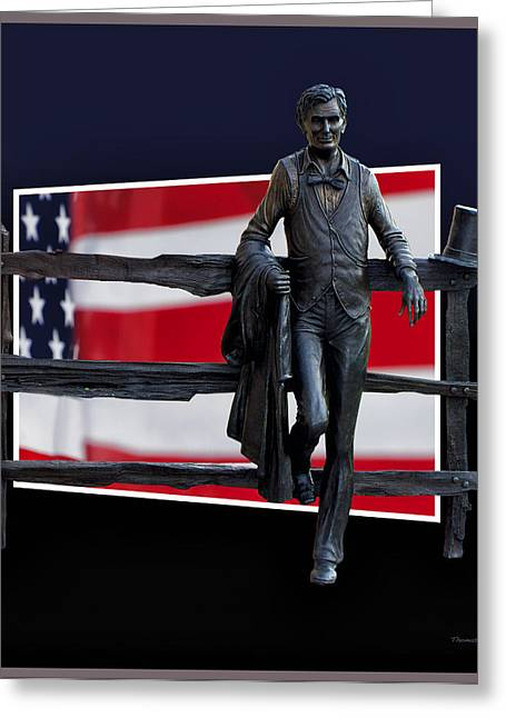 Slavery Greeting Cards - Abraham Lincoln Greeting Card by Thomas Woolworth