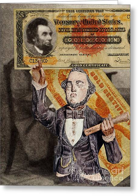 Orator Digital Art Greeting Cards - Abraham Lincoln Greeting Card by Vincent Monozlay