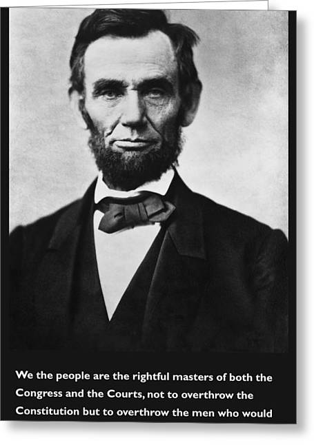 Abraham Lincoln We The People Greeting Card by Unknown