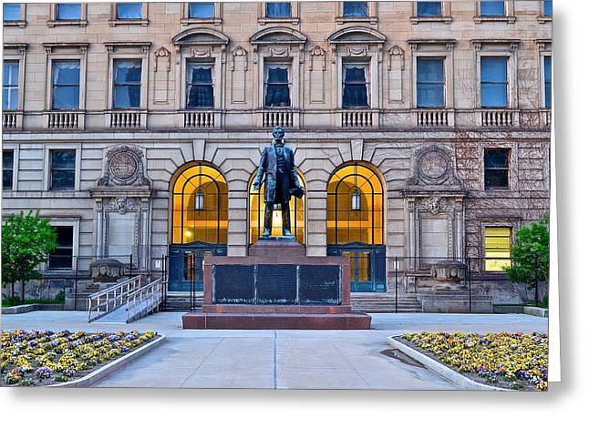 Four Score Greeting Cards - Abraham Lincoln Greeting Card by Frozen in Time Fine Art Photography