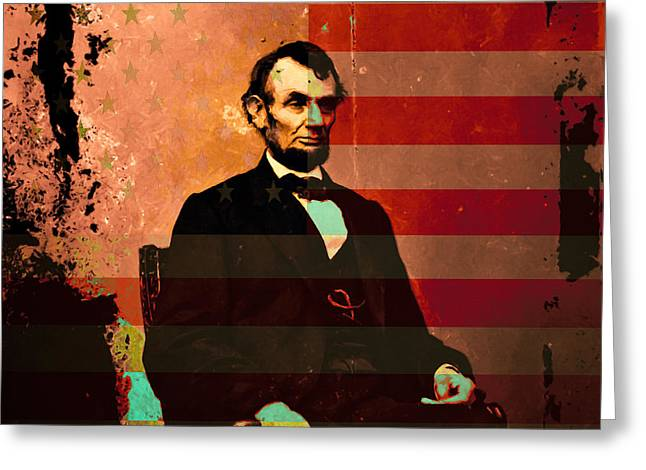 Abraham Lincoln Greeting Card by Wingsdomain Art and Photography