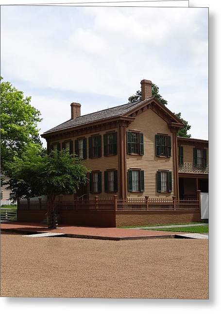 Historic Home Greeting Cards - Abraham Lincolns Springfield Home Greeting Card by Dan Sproul