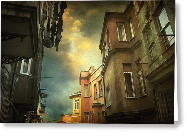 Old City Prints Greeting Cards - Absence 16.40 Greeting Card by Taylan Soyturk