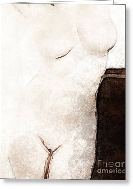 Female Body Paintings Greeting Cards - Absent Friend Greeting Card by Lutz Baar