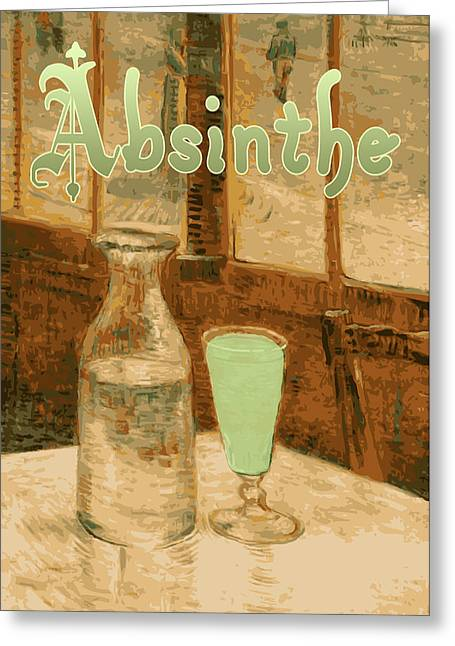 Absinthe Greeting Cards - Absinthe Art Nouveau Advertisement Greeting Card by