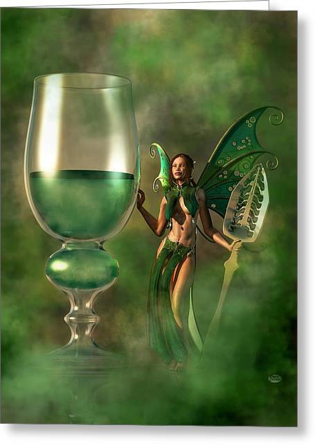 Hallucination Greeting Cards - Absinthe Greeting Card by Daniel Eskridge