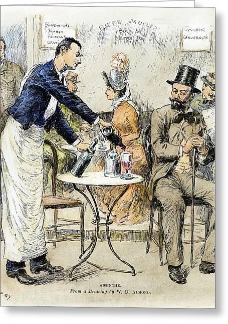 Absinthe Drinker, 1887 Greeting Card by Granger