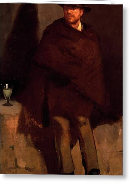 1874 Greeting Cards - Absinthe Drinker Greeting Card by Edouard Manet