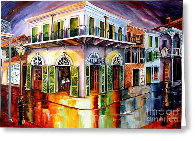 Doorway Greeting Cards - Absinthe House New Orleans Greeting Card by Diane Millsap