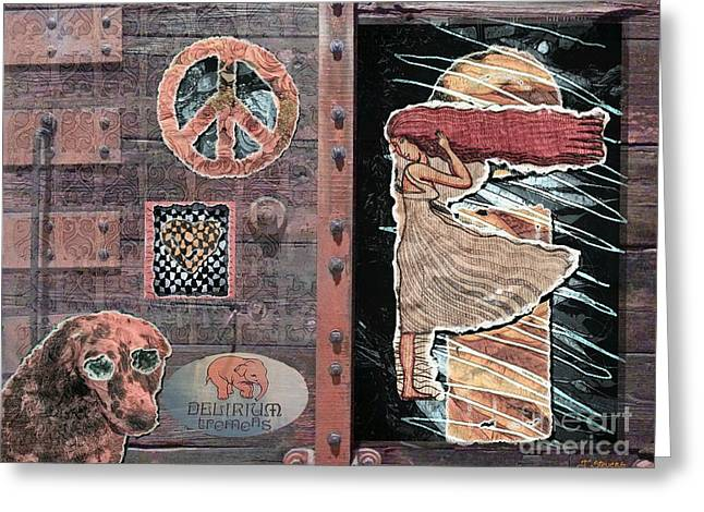 Europe Mixed Media Greeting Cards - Absinthe Night in Brussels Greeting Card by Joseph J Stevens