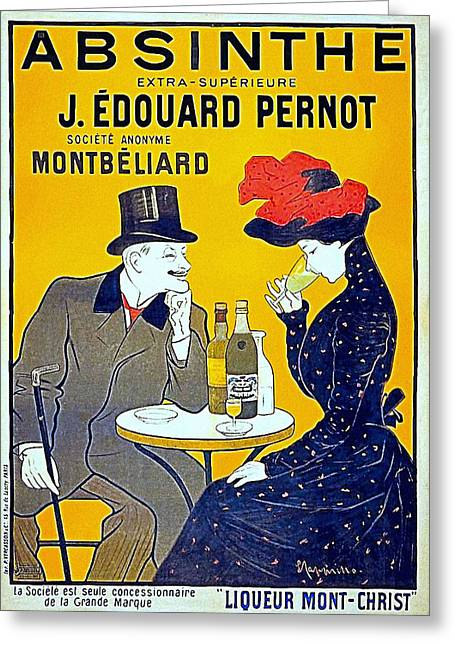 Belle Epoque Mixed Media Greeting Cards - Absinthe - Pernot Greeting Card by Charles Ross