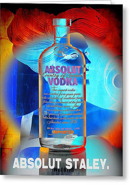 Booze Greeting Cards - Absolut Psychedelic Greeting Card by Chuck Staley