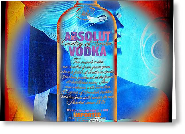 Absolut Psychedelic Greeting Card by Chuck Staley