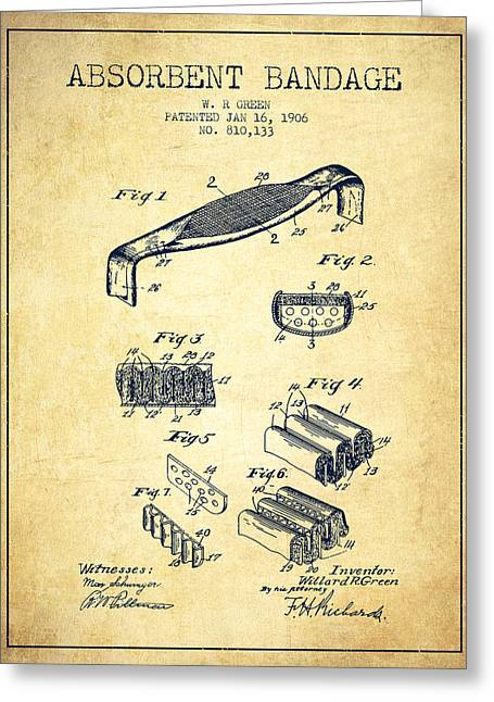 Absorbent Bandage Patent From 1906 - Vintage Greeting Card by Aged Pixel