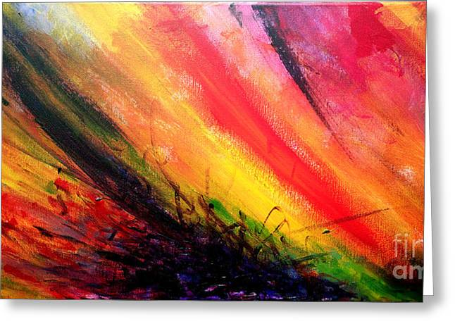 Critical Thought Greeting Cards - Abstract 01 Greeting Card by Juan Jimenez