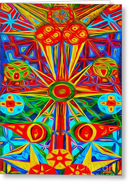 Gregory Dyer Digital Greeting Cards - Abstract 02 Greeting Card by Gregory Dyer