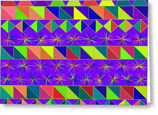Spectrum Paintings Greeting Cards - Abstract 023 Greeting Card by Victor Gladkiy