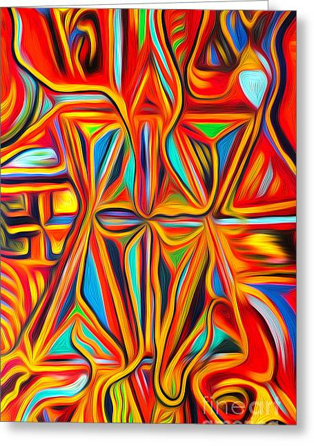 Gregory Dyer Digital Greeting Cards - Abstract 03 Greeting Card by Gregory Dyer