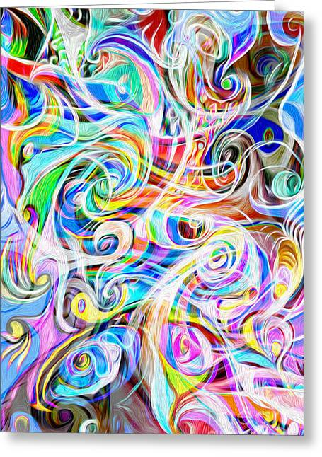 Gregory Dyer Digital Greeting Cards - Abstract 05 Greeting Card by Gregory Dyer