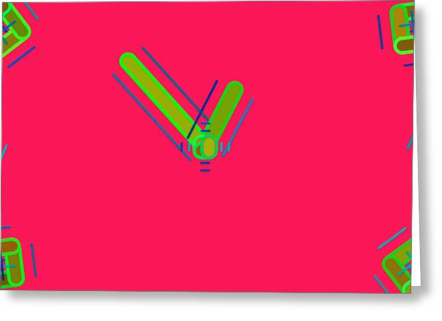 Spectrum Paintings Greeting Cards - Abstract 051 Greeting Card by Victor Gladkiy
