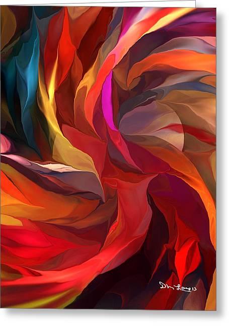 Abstract Digital Greeting Cards - Abstract 062613 Greeting Card by David Lane