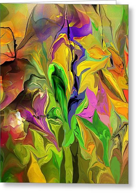 Abstract Digital Greeting Cards - Abstract 070313 Greeting Card by David Lane