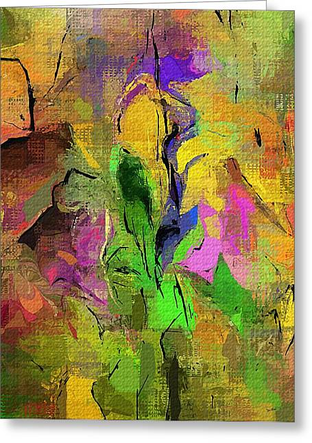 Abstract Digital Greeting Cards - Abstract 082713A Greeting Card by David Lane