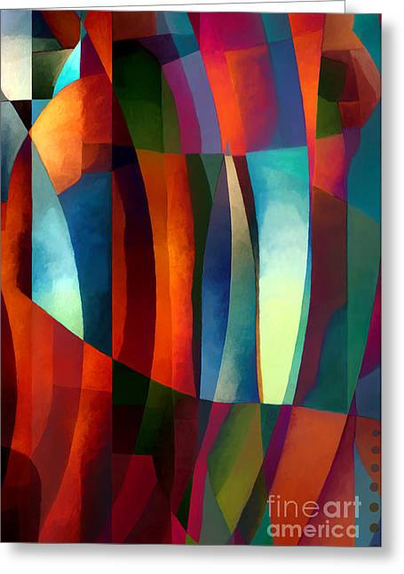 Abstract Geometric Greeting Cards - Abstract #1 Greeting Card by Elena Nosyreva