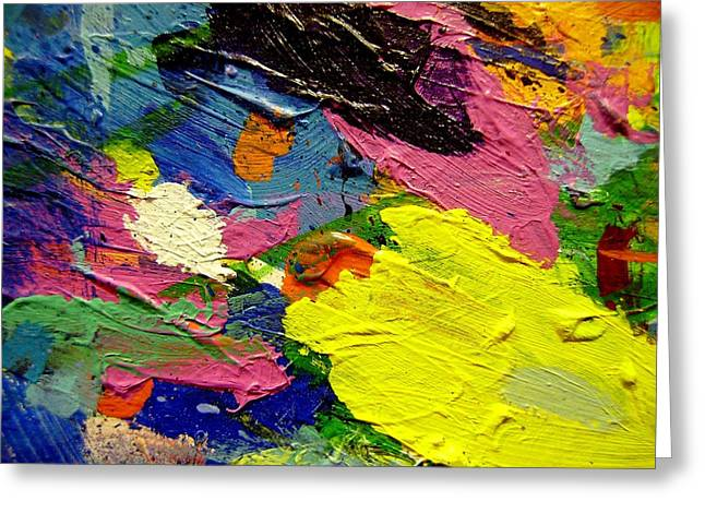 Mix Medium Paintings Greeting Cards - Abstract  1 Greeting Card by John  Nolan