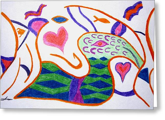 Harts Drawings Greeting Cards - Abstract 1 Greeting Card by Will Boutin Photos