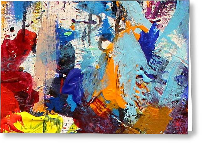 Mix Medium Paintings Greeting Cards - Abstract 10 Greeting Card by John  Nolan