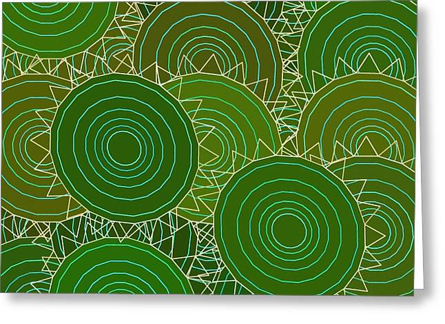 Beige Abstract Greeting Cards - Abstract 101 Greeting Card by Victor Gladkiy