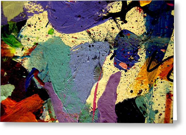 Mix Medium Paintings Greeting Cards - Abstract 11 Greeting Card by John  Nolan