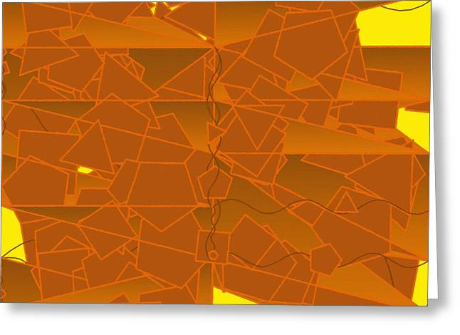 Apricot Greeting Cards - Abstract 131 Greeting Card by Victor Gladkiy