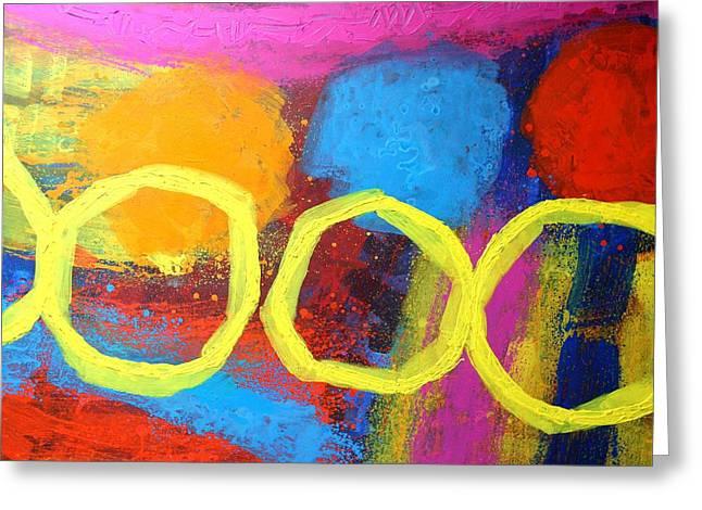 Abstract 13614 Greeting Card by John  Nolan
