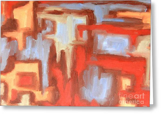 ABSTRACT 147 Greeting Card by Patrick J Murphy