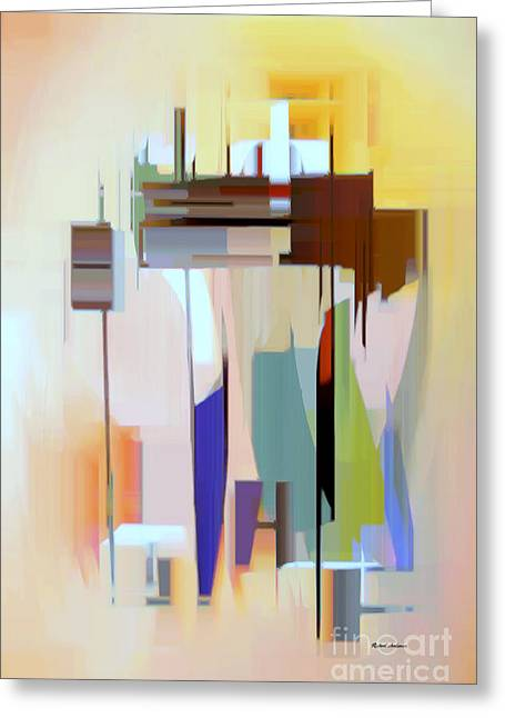 Shower Curtain Greeting Cards - Abstract 16 Greeting Card by Rafael Salazar