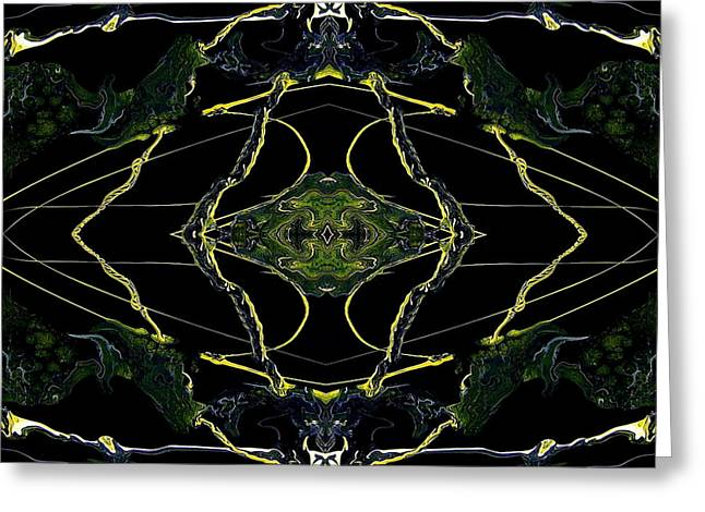 Abstract 160 Greeting Card by J D Owen